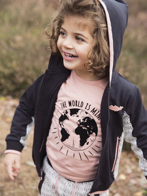Girls longsleeve pink with print