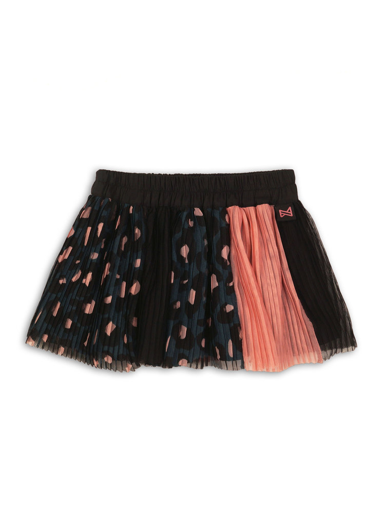 Girls tulle skirt with leopard print | 37B-32930