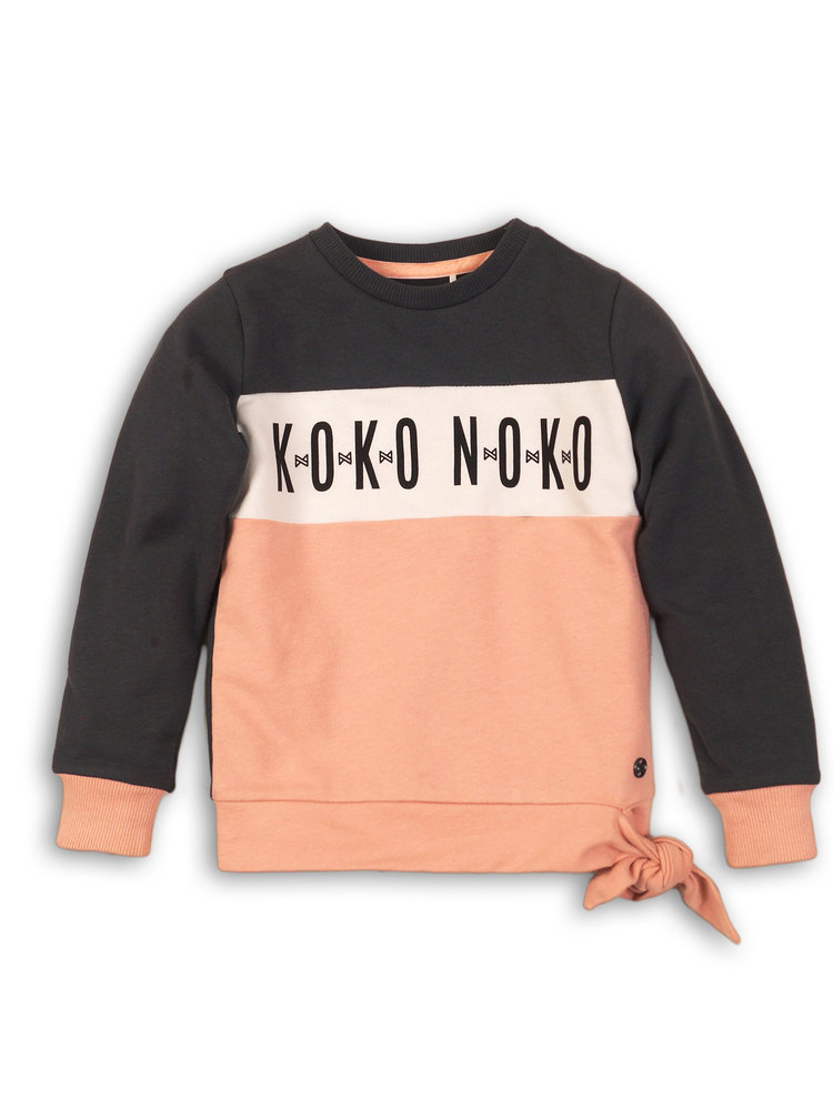 Girls sweater with logo and bow | 37B-32945