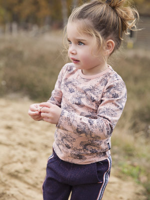 Girls longsleeve pink with koi print