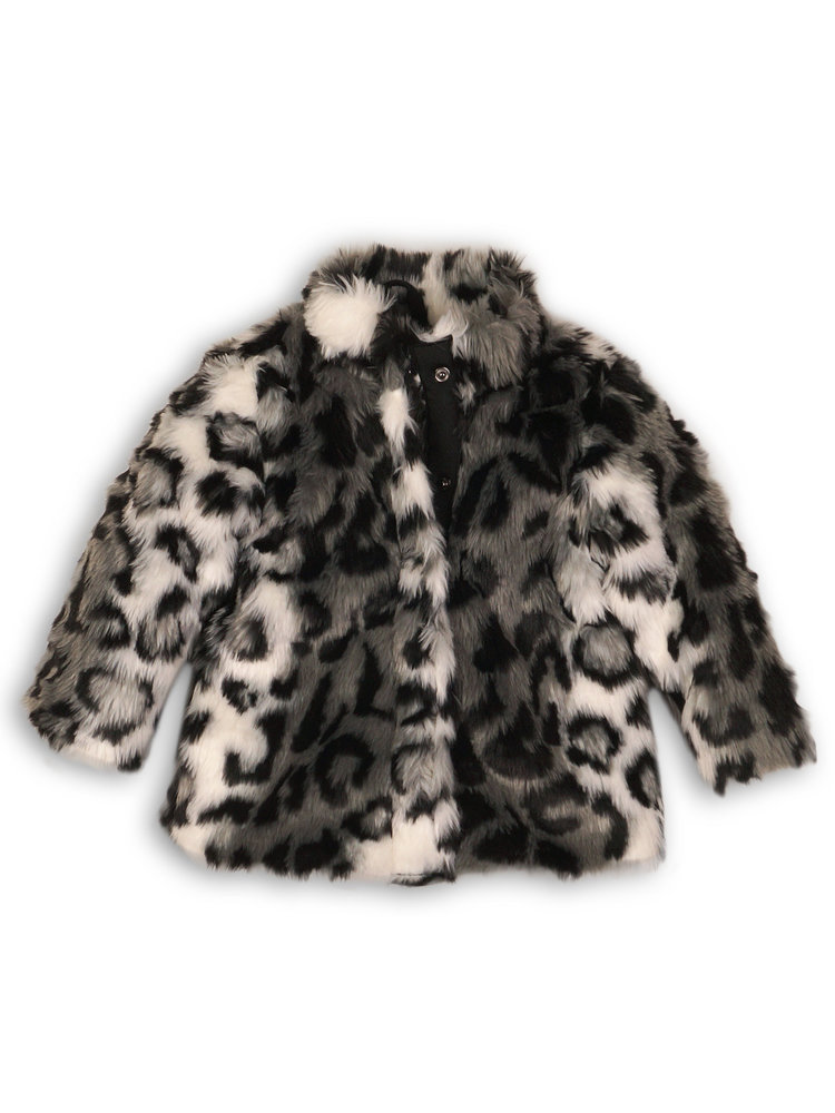 Girls jacket with leopard print | 37B-32968