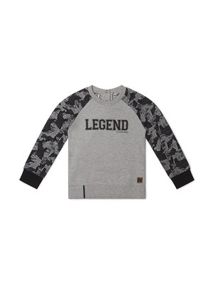 Boys sweater gray with army print