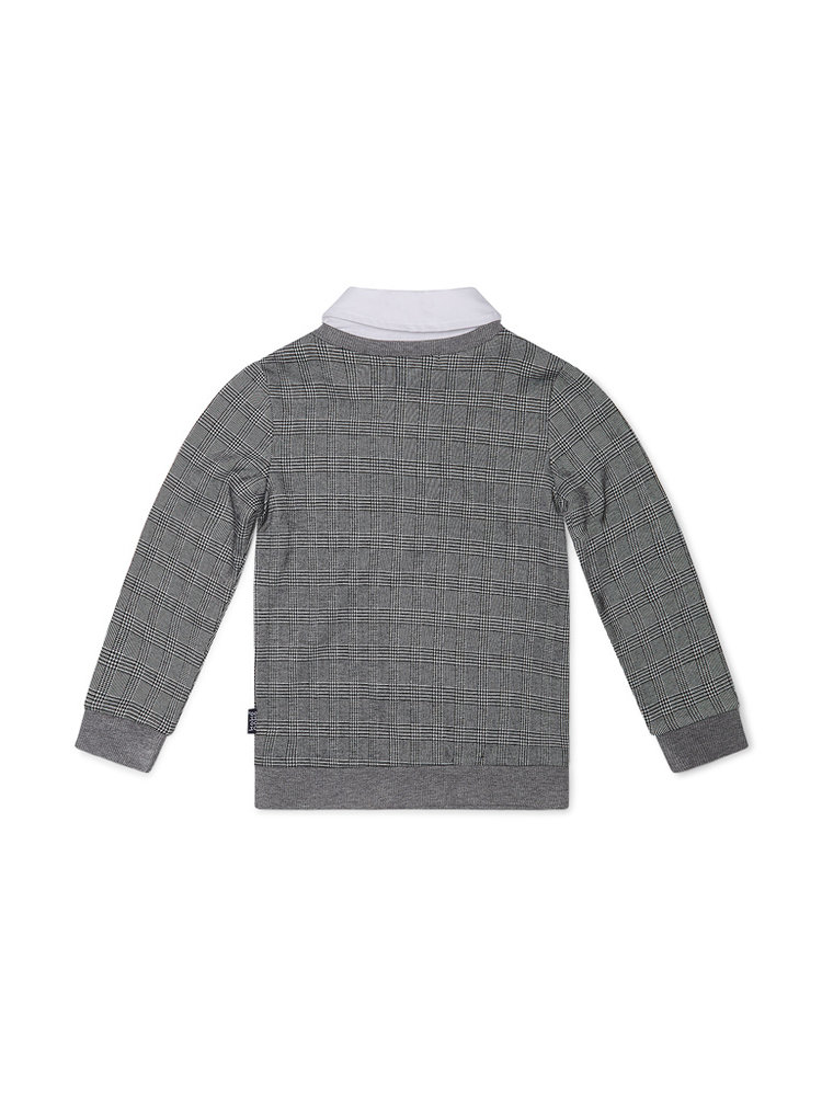 Boys sweater checked with collar | 37B-32860B2C