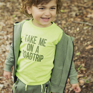Boys T-shirt green with print