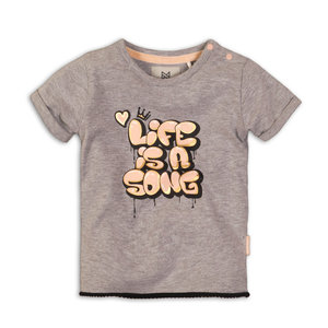 Girls T-Shirt gray with print