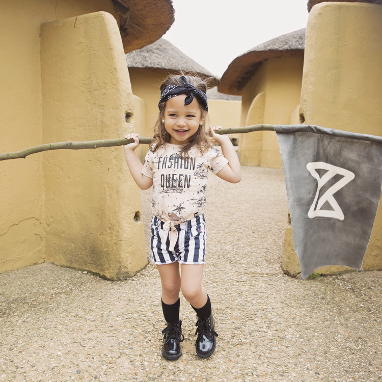Girls T-shirt with bow | 37C-34946