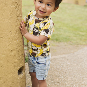 Boys T-shirt yellow with print