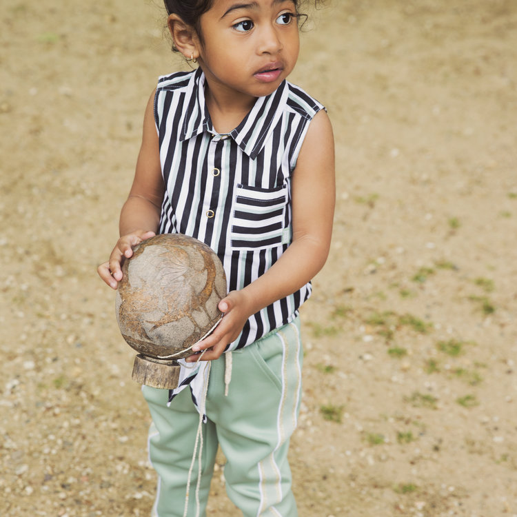 Girls blouse stripe | 37C-34931