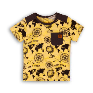 Boys T-shirt yellow with all-over print