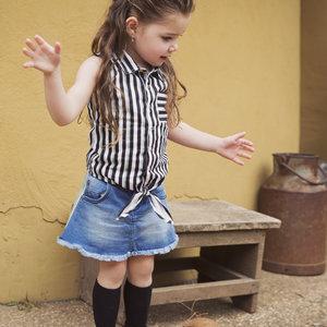 Meisjes blouse streep