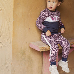 Girls jogging pants pink print