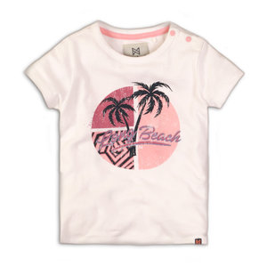 Girls T-shirt pink with palm print