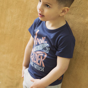 Boys T-shirt blue with print