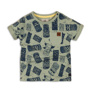 Jongens T-shirt groen met all-over print