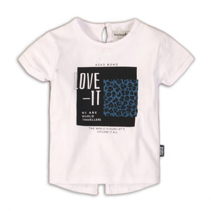 Girls T-shirt white with print
