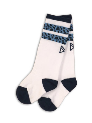 Girls socks white with blue panther print