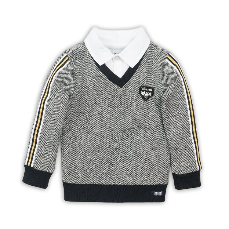 Boys sweater V-neck with collar | D36841-37