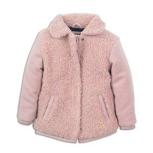 Girls jacket pink with teddy
