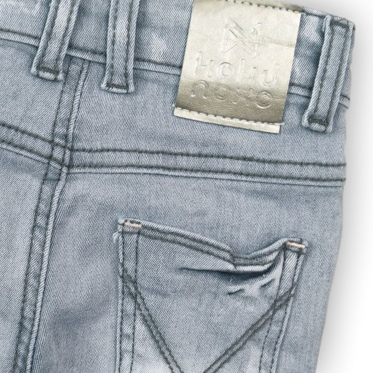 Girls jeans gray with silver label | D36971-37