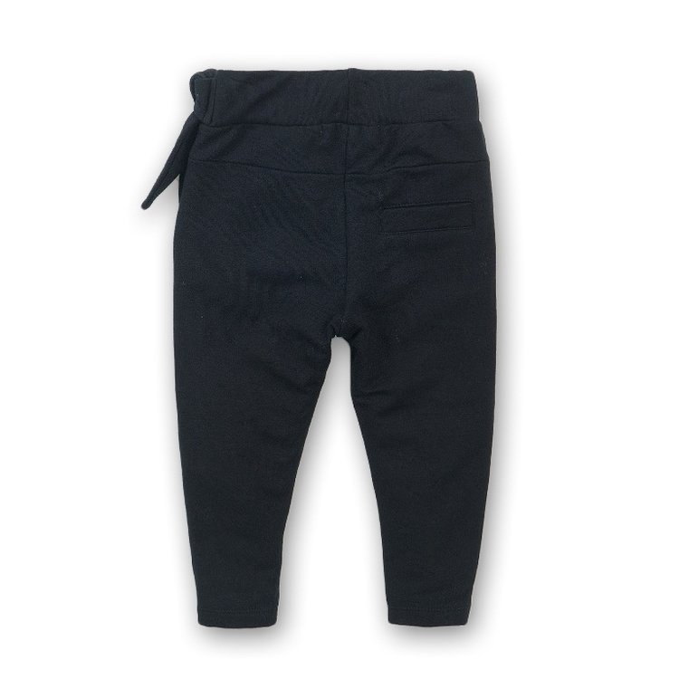 Girls jogging pants black with bow | D36950-37