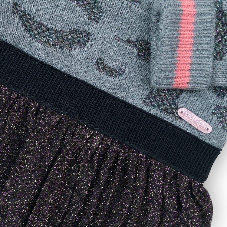 Girls dress with glitter skirt | D36944-37