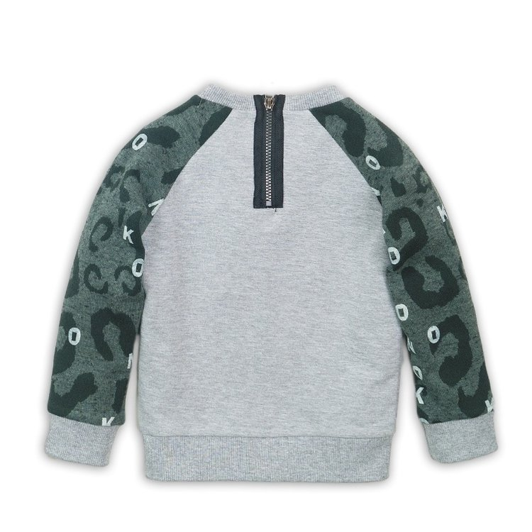 Boys sweater gray with zipper | D36849-37