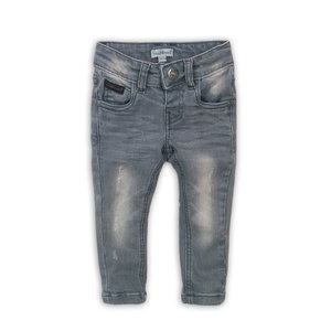 Boys jeans gray with brown label