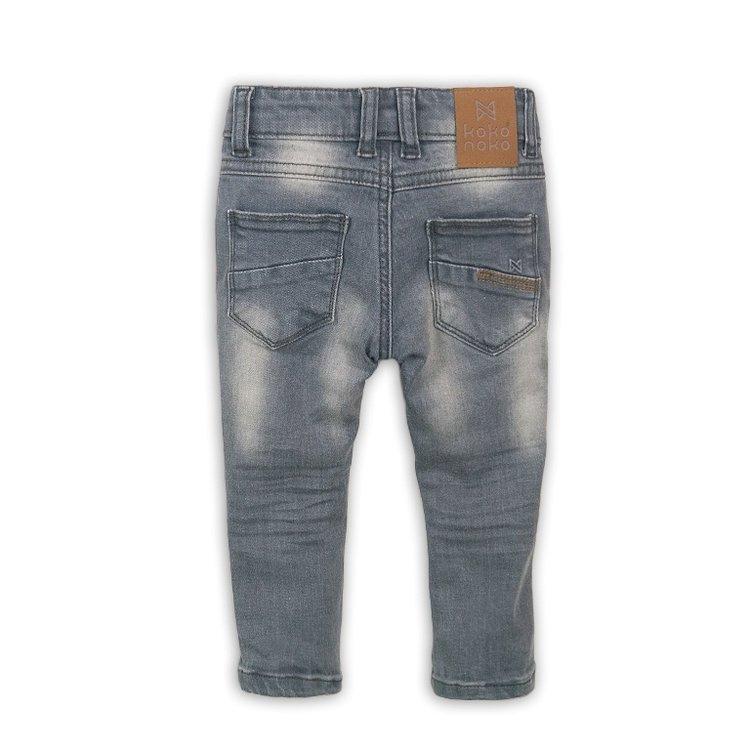 Jongens jeans grijs met bruin label | D36843-37