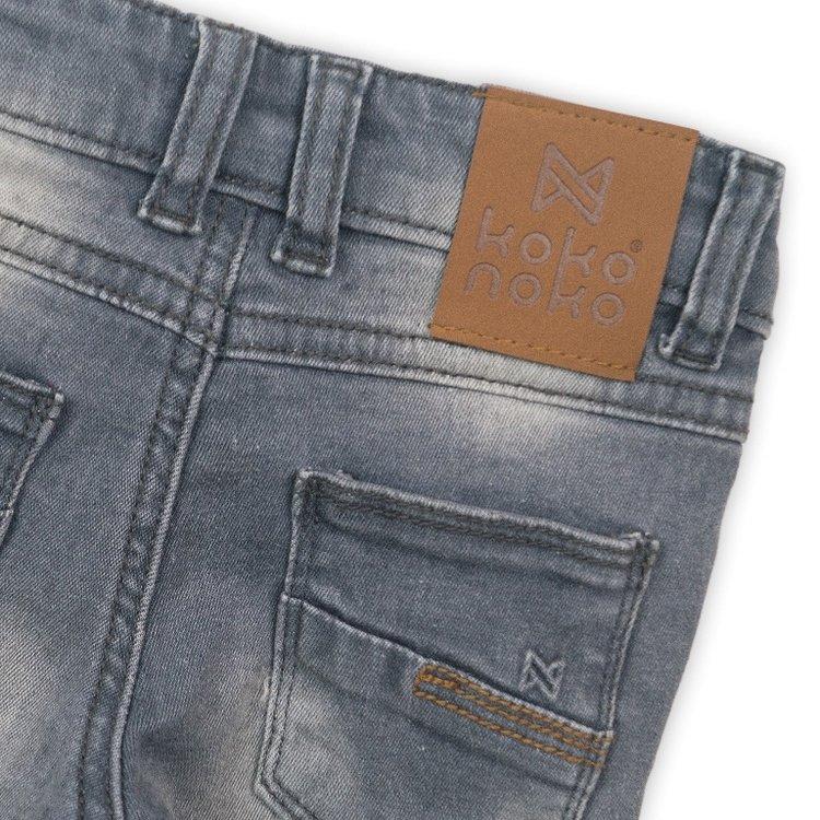 Jeans für Jungen mit braunem Label | D36843-37