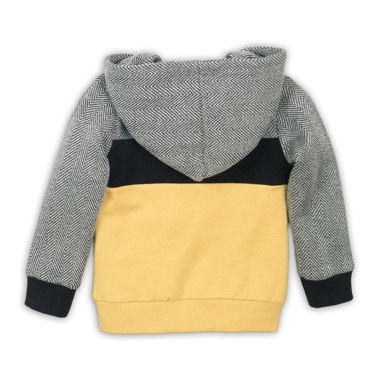 Boys sweater black yellow with hood | D36842-37