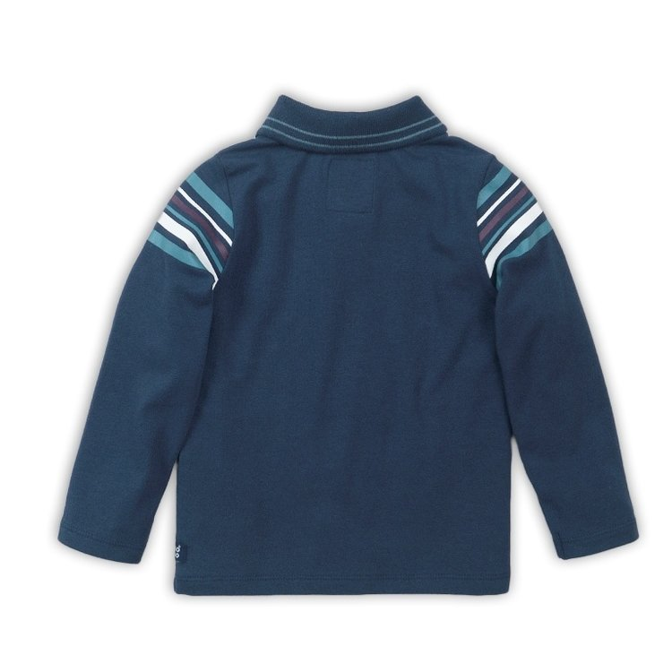 Boys polo shirt blue with long sleeves | D36809-37