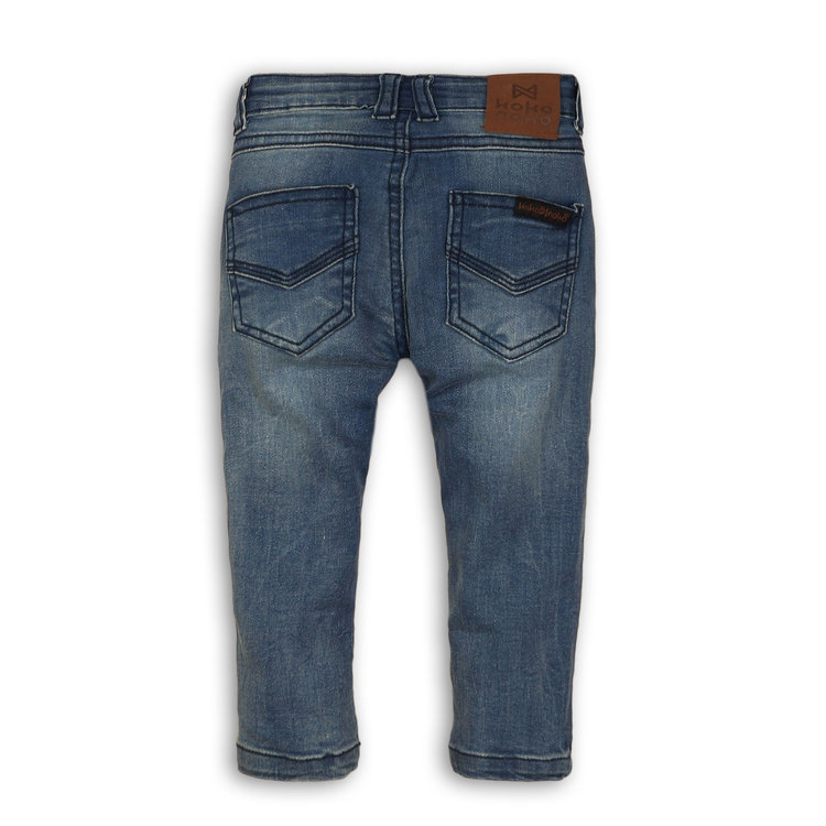 Boys jeans blue with brown label | 37C-32806