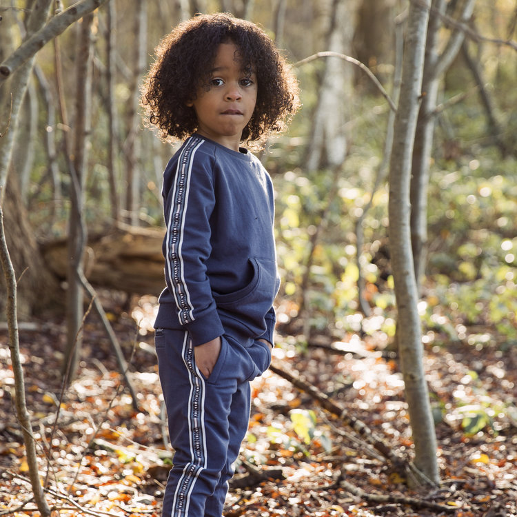 Boys sweater blue with pockets | D36801-37