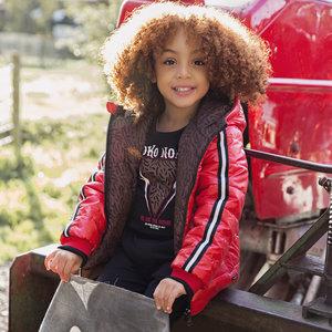 Girls jacket red reversible