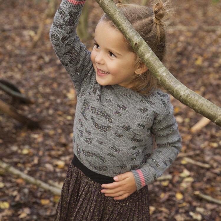 Mädchenkleid mit Glitzerrock   D36944-37