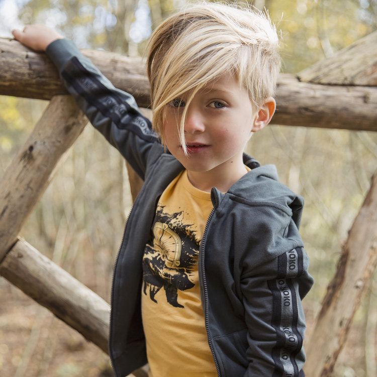 Boys shirt ocher yellow | D36834-37