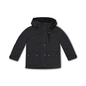 Boys jacket dark gray check
