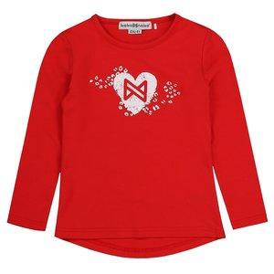 Mädchenhemd rot mit Herz