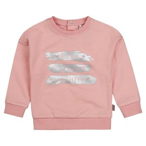 Girls sweater pink with silver