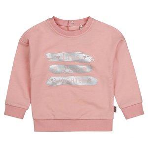 Meisjes trui roze met zilver