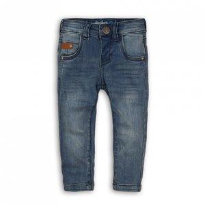 Koko Noko jongens jeans blauw met bruin label