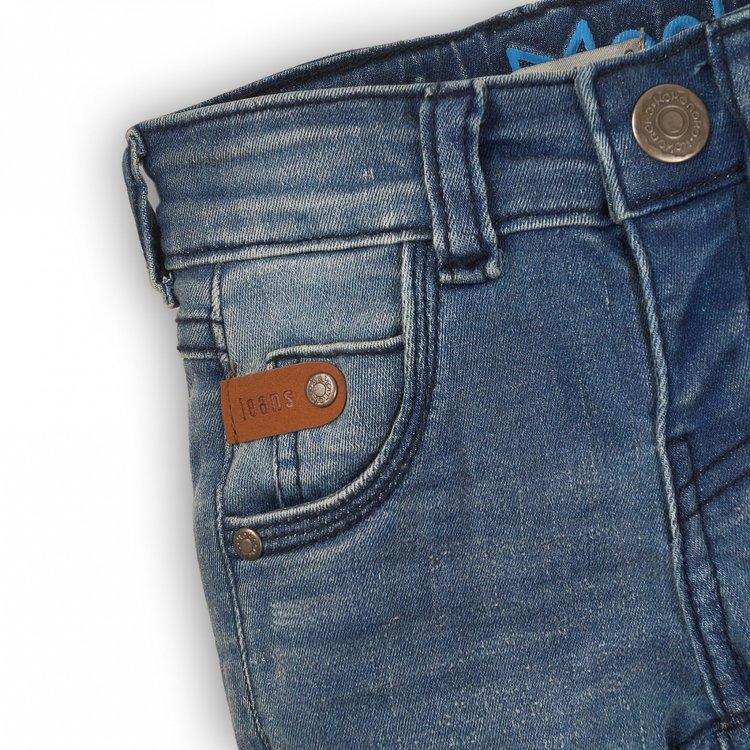 Koko Noko Jungen Jeans blau mit braunem Etikett | E32806-37WHS