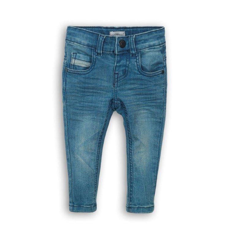 Koko Noko meisjes jeans blauw met zwart label | E36920-37WHS