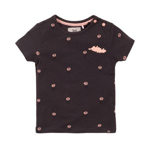 Koko Noko girls T-shirt dark grey rose
