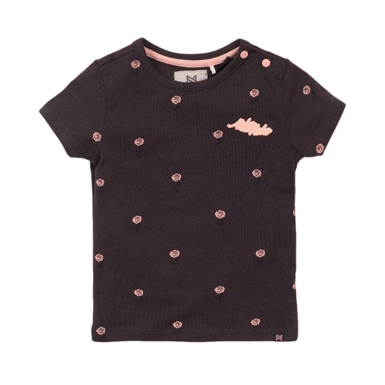 Koko Noko Koko Noko Meisjes T-shirt Donker  Roos Grijs, Roze