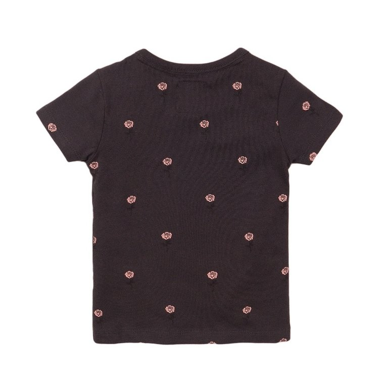 Koko Noko Mädchen T-shirt dunkelgrau rosa | E38900-37