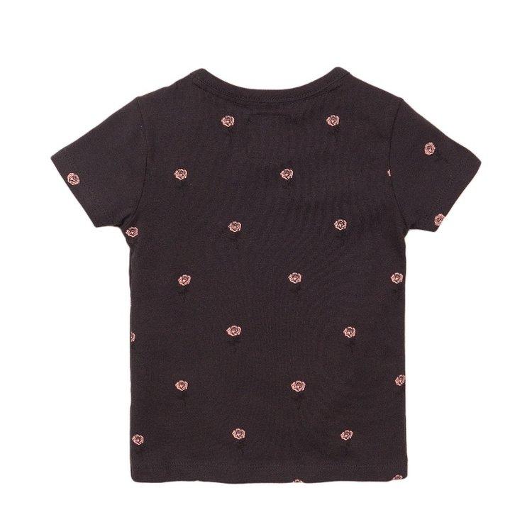 Koko Noko meisjes T-shirt donker grijs roos | E38900-37