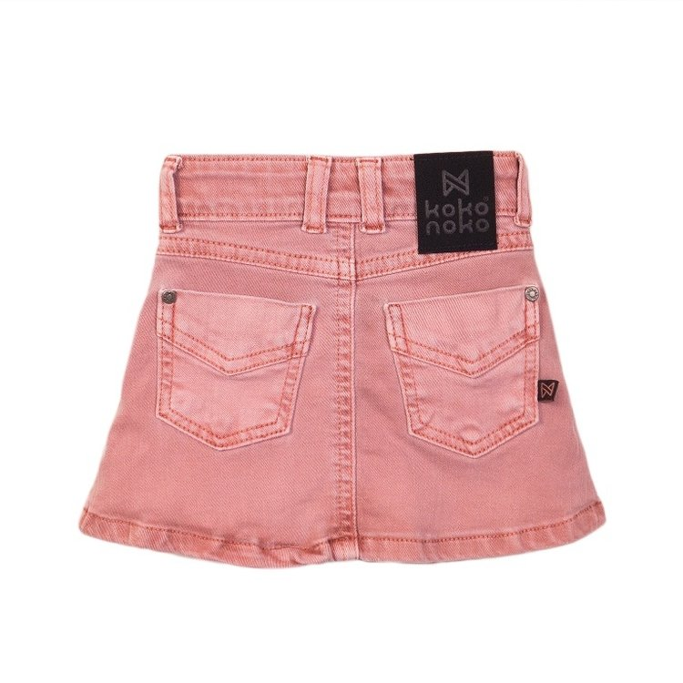 Koko Noko meisjes rok jeans roze | E38901-37