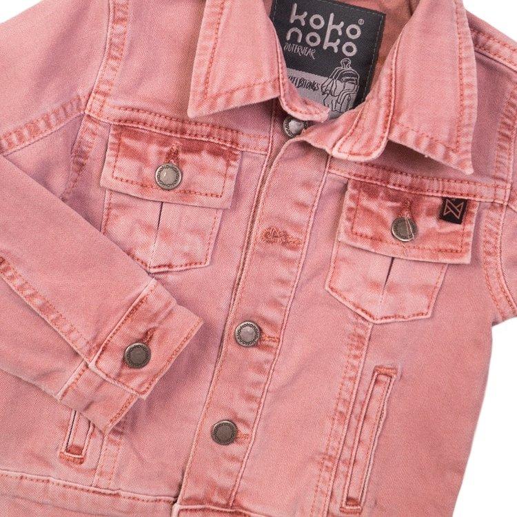 Koko Noko meisjes jeans jack roze | E38902-37