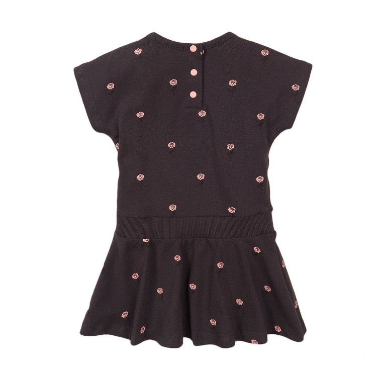 Koko Noko girls dress dark grey rose | E38903-37